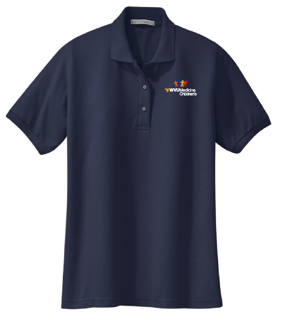 CHILDRENS HOSPITAL LADIES POLO #7396 NAVY M LADIES