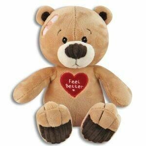 "10"" FEEL BETTER HEART BEAR"