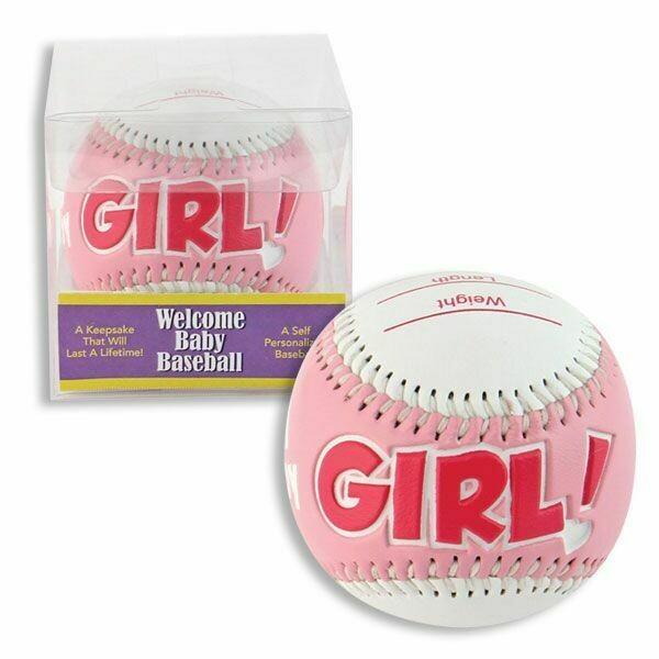 "3"" BABY BASEBALL W/GIFT BOX PINK"