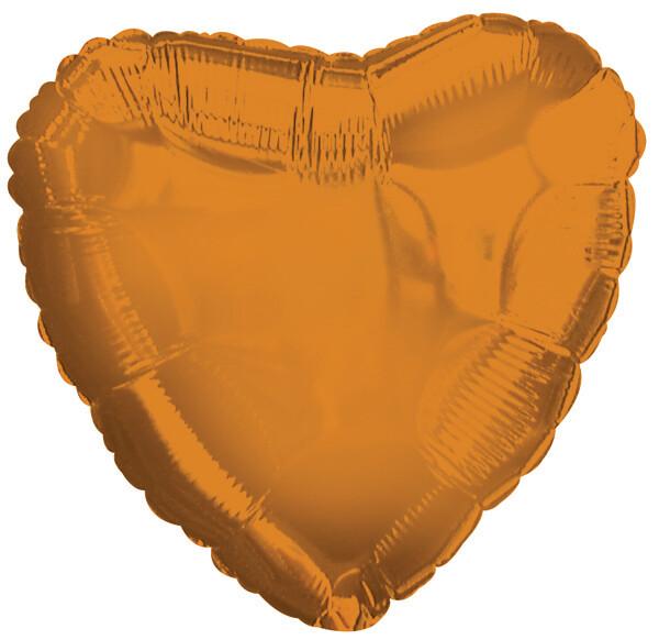 METALLIC HEART SOLID BALLOON PUMPKIN