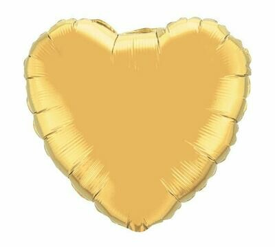 METALLIC HEART SOLID GOLD