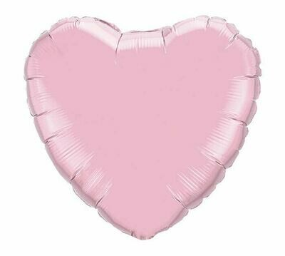 METALLIC HEART SOLID PEARL PINK