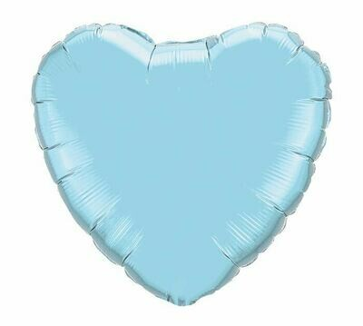METALLIC HEART SOLID PEARL LIGHT BLUE