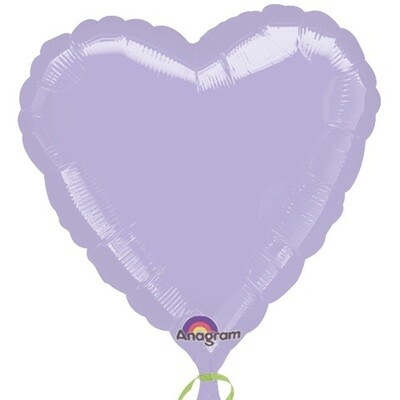 METALLIC HEART SOLID LILAC