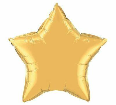 METALLIC SOLID STAR BALLOON GOLD