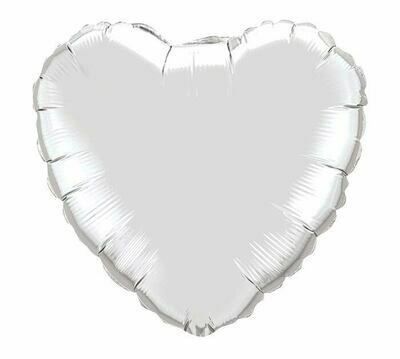 METALLIC HEART SOLID SILVER
