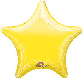 METALLIC SOLID STAR YELLOW