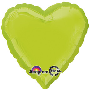 METALLIC HEART SOLID KIWI GREEN