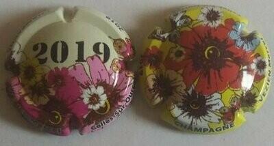 Capsule de champagne VEZIEN Marcel série de 132. à 132a. fleurs  2019
