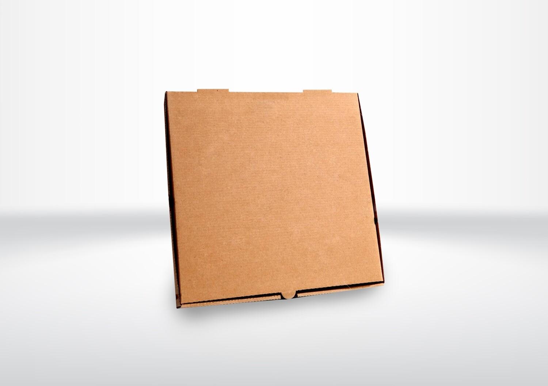 "18"" Brown Corrugated Pizza Boxes"