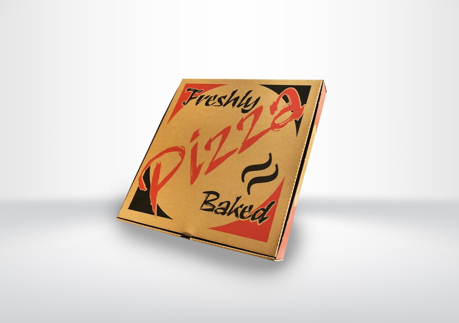 """9"""" Brown Printed Pizza Boxes"""