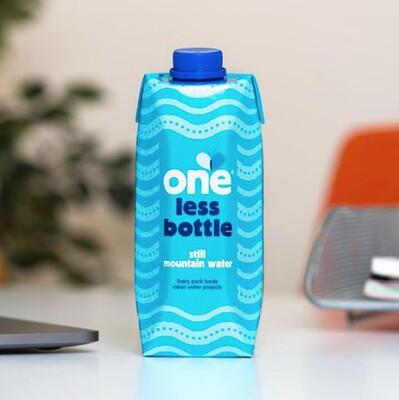 'One Less Bottle' Still Water Carton