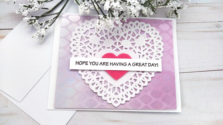 Handmade Greeting Card, Set of 4 Friendship