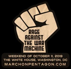 Rage Against the War Machine Die Cut Sticker