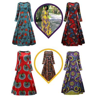 African Dress - Maxi Dress