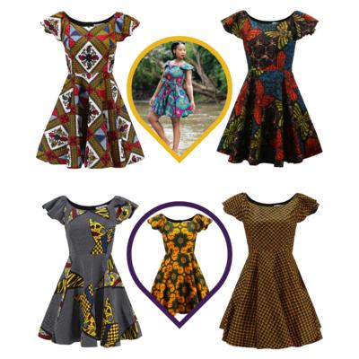 African Dresses - Skater Ankara Dresses