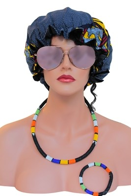 African Satin Bonnets Collection 3