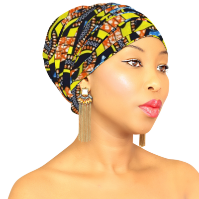 African Head Wrap - Yellow Queen