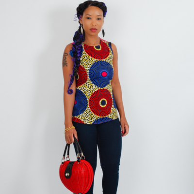 African Top - Sleeveless African Top