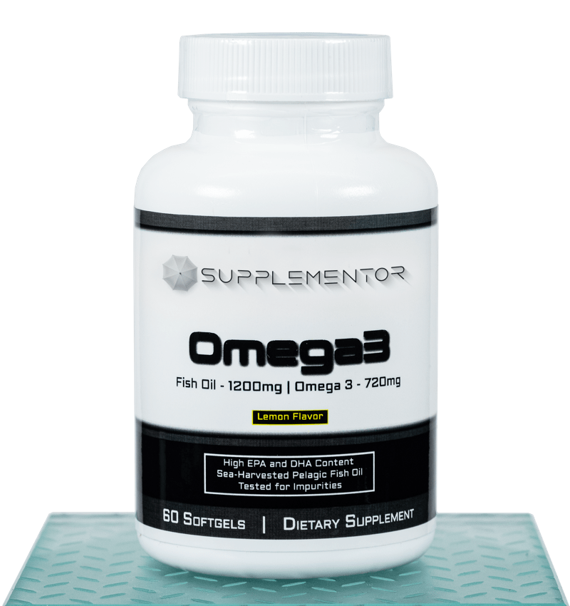 Omega 3 Fish Oil 60 Count Softgels Supplement