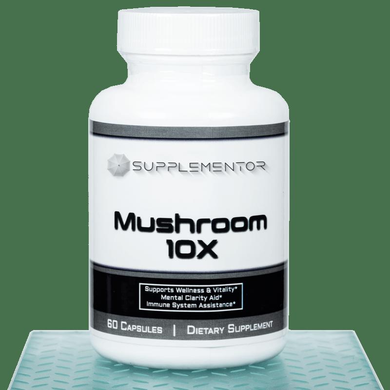 Mushroom 10x Complex 60 Count Capsules Supplement
