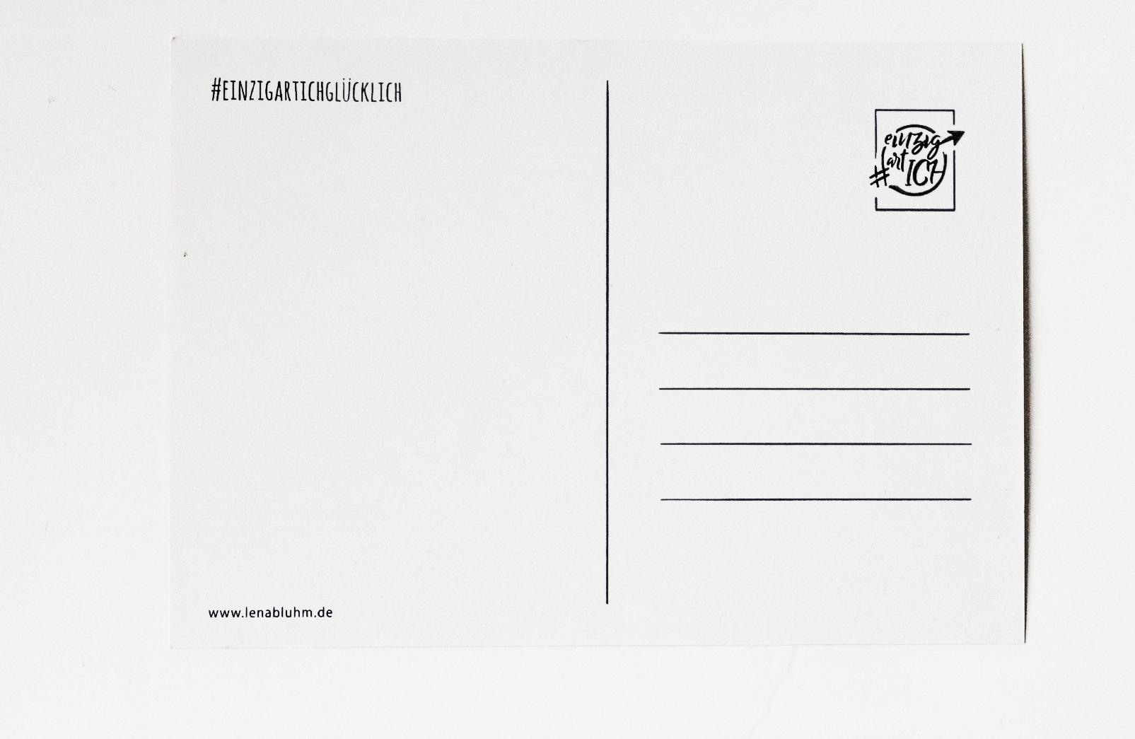 """Postkarte """"EINZIGARTICH"""" von LenArt"""