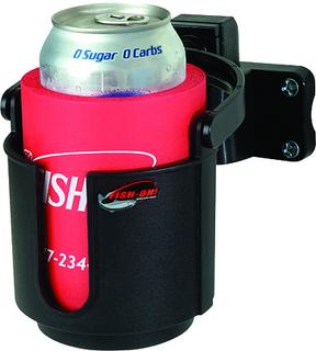 Fish-On!® Cup Holder Rod Mount - Black