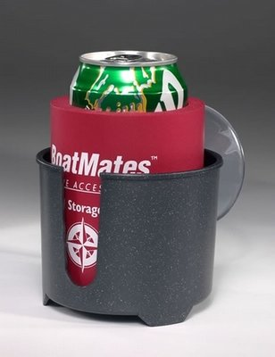 Drink Holder with Can Cooler - Graphite