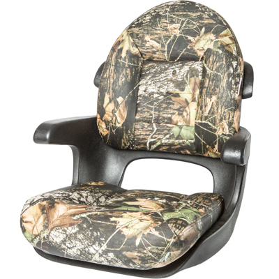 Elite Helm High-Back Boat Seat - Mossy Oak Break-Up - VINYL