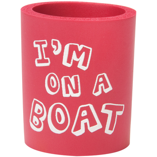 Can Cooler - I'm on a Boat - Red/White