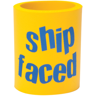 Can Cooler - Shipfaced - Yellow/Blue