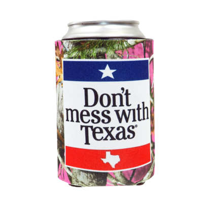 Can Cooler - Don't Mess With Texas Pink Camo