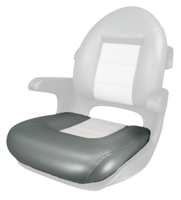 TEMPRESS Elite Helm Seat Bottom Cushion ONLY - Charcoal/Gray
