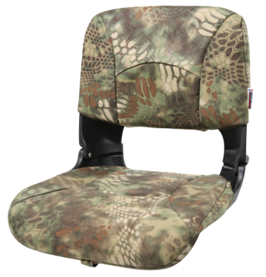 All-Weather High-Back Boat Camo Seat - Kryptek Mandrake