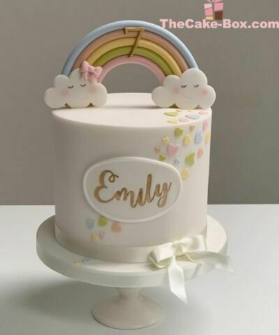 Emily's Rainbow Themed Cake