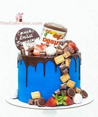 Nutella Dripping Theme Cake