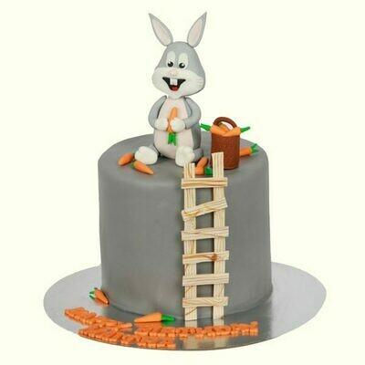 Bunny and Carrot Birthday Cake
