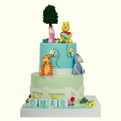 Baby Animals Boys Theme Cake