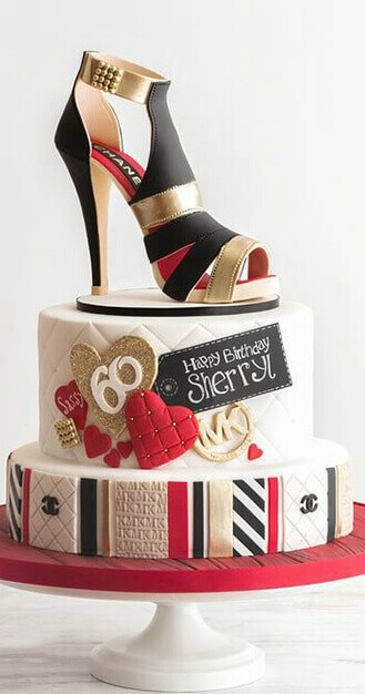 Chanel Sugar Shoe Cake