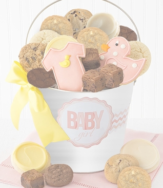 Baby Girl Cookie Pail