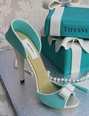 Tiffany Shoe Cake