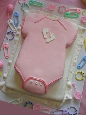 Baby Girls Onesie Cake
