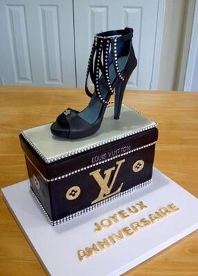 Louis Vuitton Black Shoe Cake