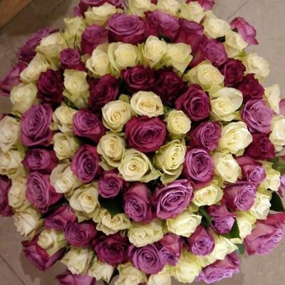 Букет Спираль из роз