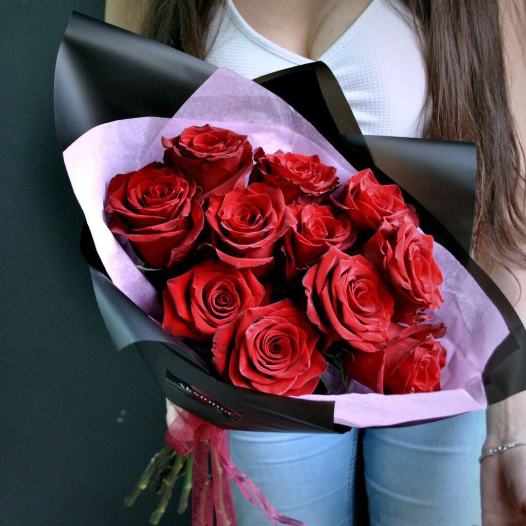 Букет роз Бархатная ночь любви.