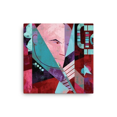 Picard and Flute, Canvas Print