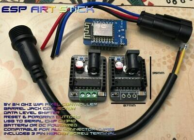 ESP Art Stick 5v barrel jack enhanced complete