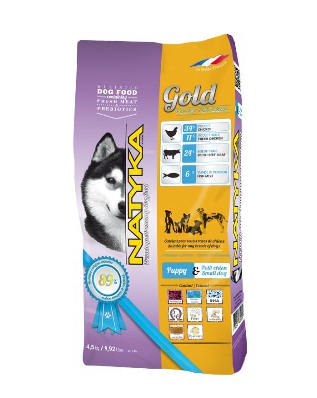 Корм Natyka Gold Puppy 0.4 кг (для щенков и собак мелких пород)