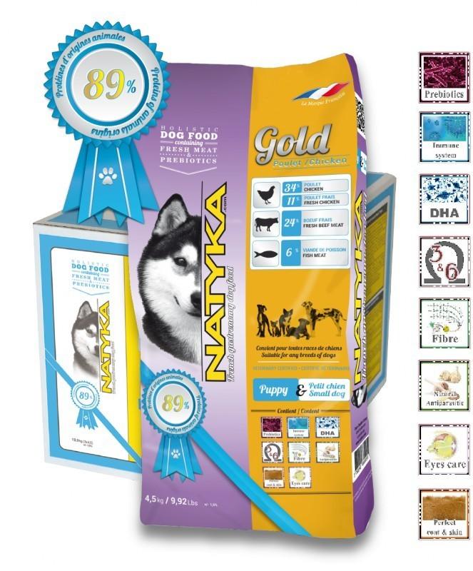 Корм Natyka Gold Puppy 4,5 кг (для щенков и собак мелких пород)