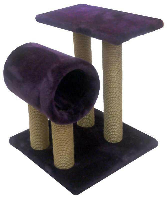 Комплекс Полка с трубой мех однотонный 42х45х67 см